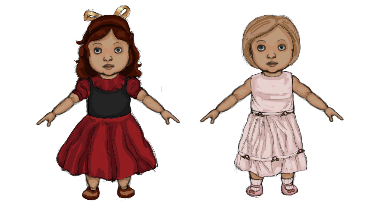 Modelling Sketch: Doll Costumes