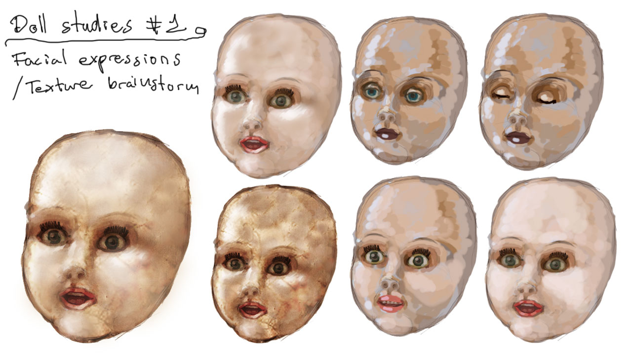 Character: The dolls - Faces